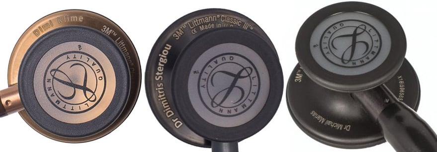 Στηθοσκόπιο Littmann Classic III παραδείγματα χάραξης στηθοσκοπίων