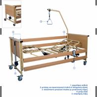 Trento 1 - Ηλεκτροκίνητο πολύσπαστο κρεβάτι με μεταλλικούς πήχεις