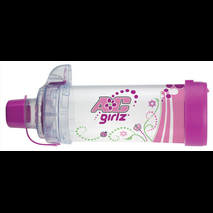 Aerochamber Plus Flow - Vu Anti - Static με επιστόμιο Girlz