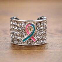Charms στηθοσκοπίων - Causes Pink and Blue Ribbon