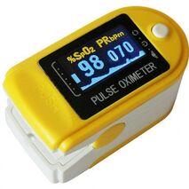 Παλμικό οξύμετρο δακτύλου Contec CMS50D με θήκη - Κίτρινο