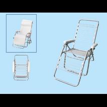 Πολυθρόνα relax προσώπου πτυσσόμενη χρωμίου   0,62 x 0,83 x 1,10m