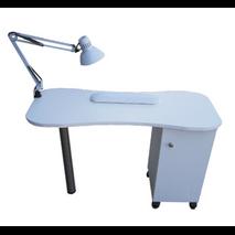Τραπέζι μανικούρ μονό με ντουλάπι ή με συρτάρια 1,00 x 0,50 x 0,74m