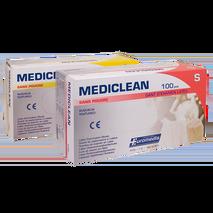 Γάντια Latex MEDICLEAN χωρίς πούδρα σε συσκευασία 100 τεμαχίων