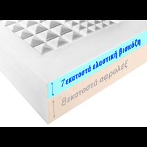 Ανατομικό στρώμα memory foam LUXE 15 εκατοστών - 8 εκ foam και 7 εκ ελαστική βισκόζη
