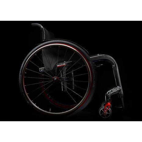 Αναπηρικό αμαξίδιο ελαφρού τύπου από ανθρακονήματα Duke - Μαύρο