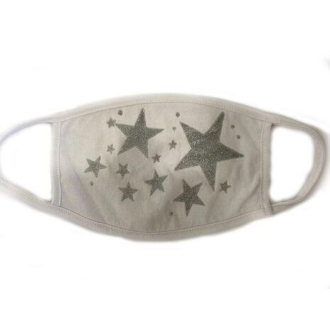Υφασμάτινη Μάσκα  Πολλαπλών Χρήσεων Ενηλίκων - Silver Stars